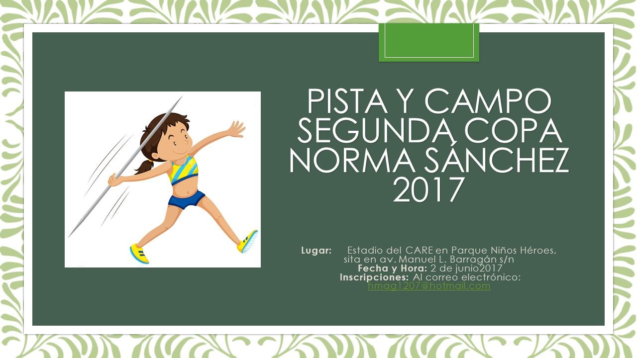 Pista y Campo norma sanchez